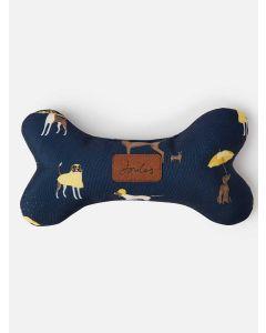 Joules Coast Dog Print Plush Bone Dog Toy