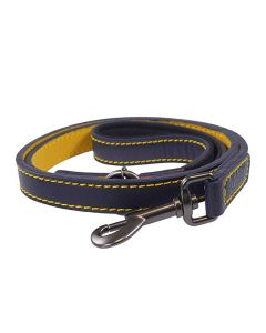 Joules Leather Dog Lead, French Navy