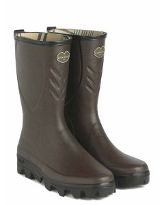 Men's Le Chameau Ceres Low Jersey Lined Mid-Calf Welly Boot