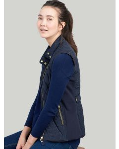 Joules Brookdale Quilted Gilet, Marine Navy 202974