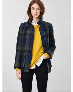 Joules Fieldcoat Tweed Jacket, Green Blue Tweed 203609