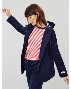 Joules Coast Waterproof Cotton Canvas Coat - French Navy | 206200