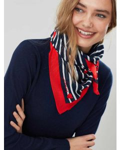 Joules Tiewell Square Neckerchief, Heart Stripe
