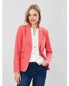 Joules Wiscombe Peaked Collar Tweed Blazer, Red Herring