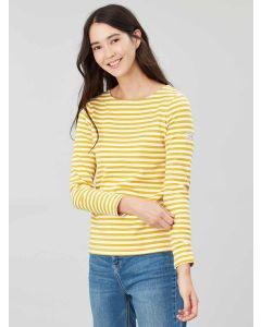 Joules Harbour Jersey Top, Gold Stripe 207752