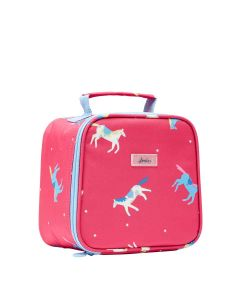 Joules Girls Munch Lunch Cool Bag, Pink Horses