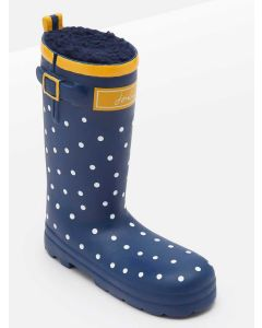 Joules Squeaky Dog Toy, Wellington Boot - Navy Spot