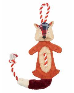 Joules Rope Fox Pet Toy - Red Tweed