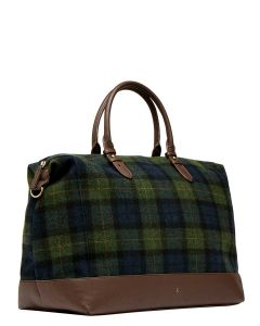 Joules Fulbrook Tweed Holdall, Navy Green Check 209015