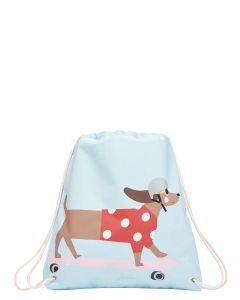 Joules Active Drawstring Bag, Sausage Dog on a Skateboard  209257