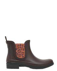 Joules Rutland Rubber Chelsea Boot - Dark Brown - 209665