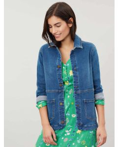 Joules Imogen Denim Jacket, Mid Blue 209669