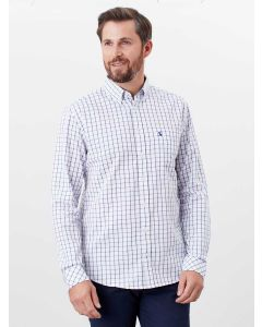 Joules Men's Welford Classic Fit Shirt  -  White Pink Stripe | 209734