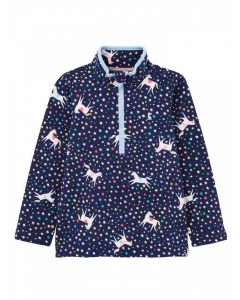 Joules Girls Fairdale Sweatshirt  -  Navy Unicorn | 210715