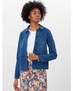JOULES ALICE DENIM JACKET, MID INDIGO | 210744