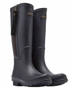 Joules Collette Tall Height Equestrian Style Welly with Interchangable Tassell - Black - 210997