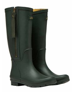 Joules Collette Tall Height Equestrian Style Welly with Interchangable Tassell - Dark Everglade - 210997