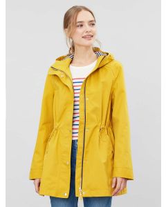 Joules Shoreside Waterproof A Line Coat - Antique Gold | 211016