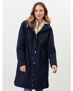 Joules Loxley Cosy Waterproof Padded Raincoat - Marine Navy | 211456