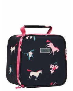 Joules Girls Munch Lunch Bag - Navy Unicorn Floral | 211653