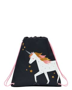 Joules Active Drawstring Bag, Navy Unicorn 211654