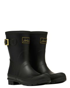 Joules Molly Short Printed Wellies, Gold Bees
