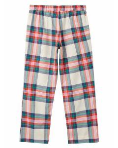 Joules Slumber Woven Pyjama Bottoms, 100% Cotton. 212687. Multi Check