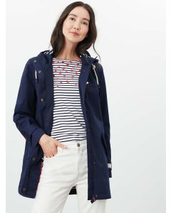 Joules Coast Mid Length Waterproof Jacket - French Navy | 212752