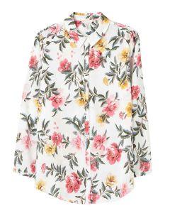 Joules Elvina Button Front Woven Shirt - Cream Floral   212813
