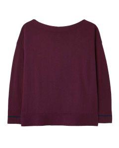 Joules Vivianna Drop Shoulder Slash Neck Jumper  -  Purple   212842