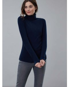 Joules Clarissa Roll Neck Jersey Top, French Navy 212847