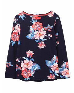 Joules Harbour Print Jersey Top,  Navy Floral | 212928