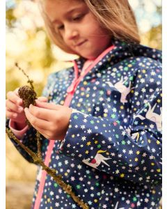 Joules Girls Raindance Waterproof Raincoat  -  Navy Unicorn | 212982