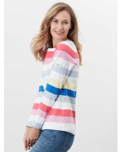 HARBOUR LONG SLEEVE JERSEY TOP | 213303 | MULTI COLOUR STRIPE