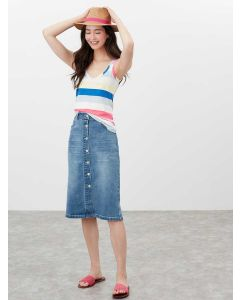 Joules Annika Stripe Scoop Neck Jersey Vest - Cream Stripe | 213346