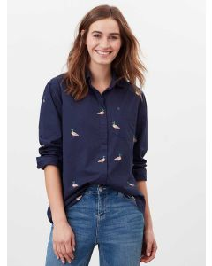 Joules Amilla Dropped Shoulder Shirt - Navy Duck | 213349