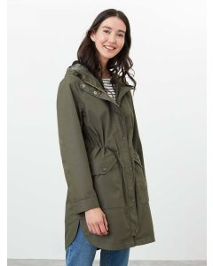 Joules Loxley Longline Waterproof Jacket - Grape Leaf | 213359