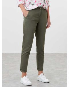 Joules Women's Hesford Chino Trousers - Seaweed   213368