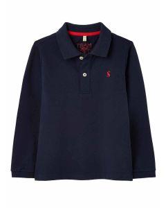 Joules boys Woodwell long sleeve polo shirt - French Navy - 213645