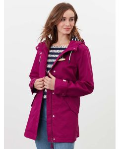 Joules Coast Mid Length Waterproof Jacket - Berry Blush | 213807