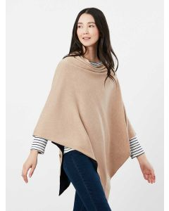 Joules Beatrice Knitted Cape - Camel Marl - 214270