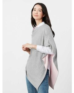 Joules Beatrice Knitted Cape - Grey Marl - 214270