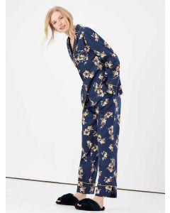 Joules Sleeptight Light Pyjama Set - Navy Posy - 214578