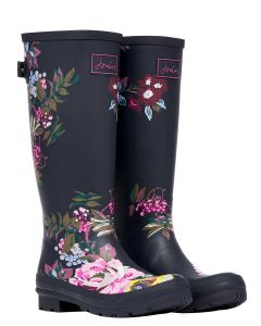 Joules Welly Print - Navy Florals - 214784