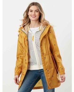 Joules Golightly Printed Waterproof Packaway Jacket - Gold Bee | 214871