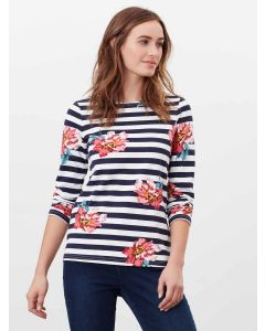 JOULES HARBOUR PRINT LONG SLEEVE JERSEY TOP, 214882  CREAM FLORAL