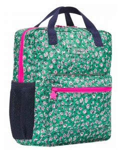 Joules Easton Girls Printed Backpack - Green Ditsy - 215056