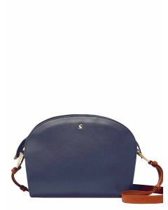 Joules Langton Leather Cross Body Bag - French Navy - 215152