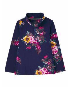Joules Girls Fairdale Sweatshirt - Navy Floral | 215406