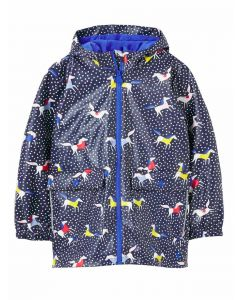 Joules Girls Raindance Waterproof Raincoat - Horse Spot | 215573